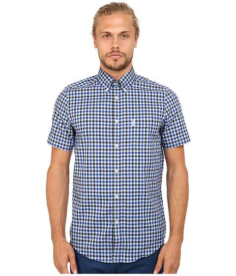 Ben Sherman - S/S House Gingham (Sky Blue) Men's Clothing
