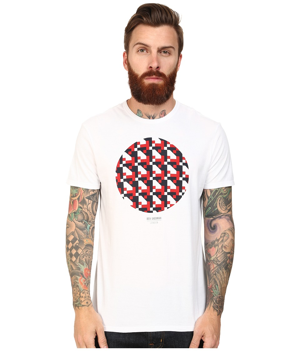 Ben Sherman - Track Geo Print Tee (Bright White) Men
