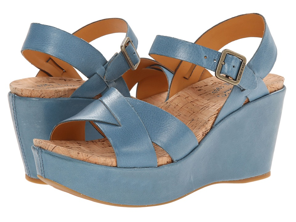 Kork-Ease - Ava 2.0 (Golfo (Blue)) Women's Wedge Shoes