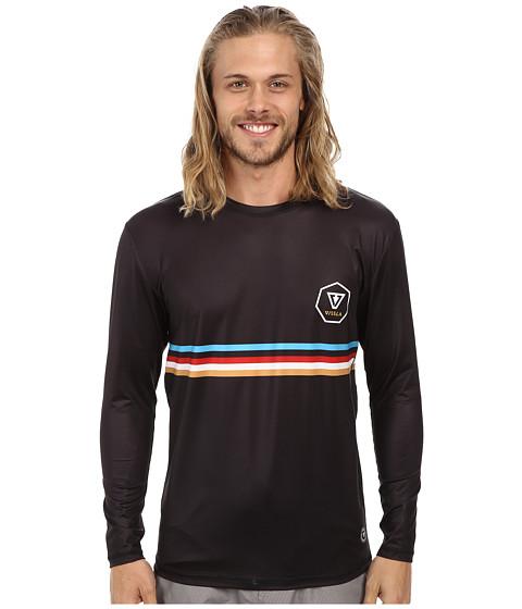 VISSLA - Rhyder L/S Surf Tee (Phantom) Men's Swimwear