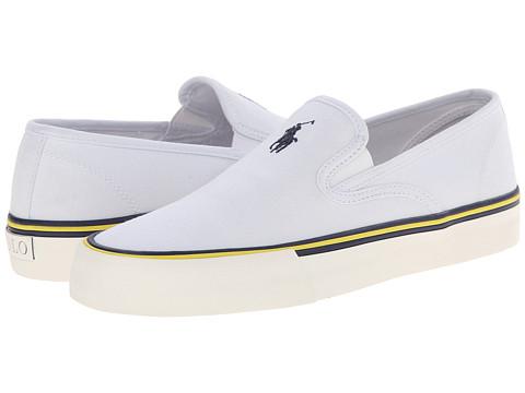 Polo Ralph Lauren - Mytton (Pure White Canvas) Men's Shoes