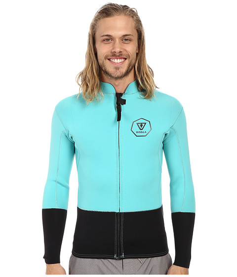 VISSLA - Front Zip Jacket (Jade) Men's Swimwear