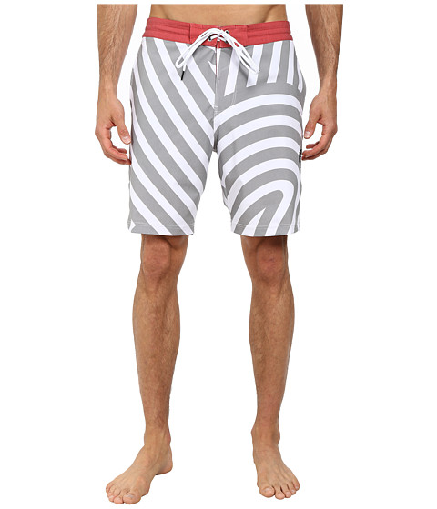 VISSLA - Templates Boarshorts (White) Men's Swimwear