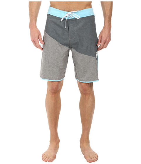 VISSLA - Layback Boardshort (Grey) Men's Swimwear
