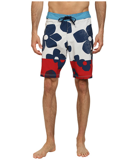 VISSLA - Keoni Boardshort (Vintage White) Men's Swimwear