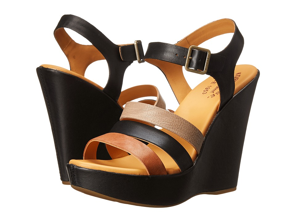 Kork-Ease - Fay (Black Multi) Women's Wedge Shoes