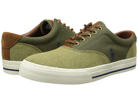 Polo Ralph Lauren - Vaughn Sad (Green Pumice Canvas) Men's Shoes