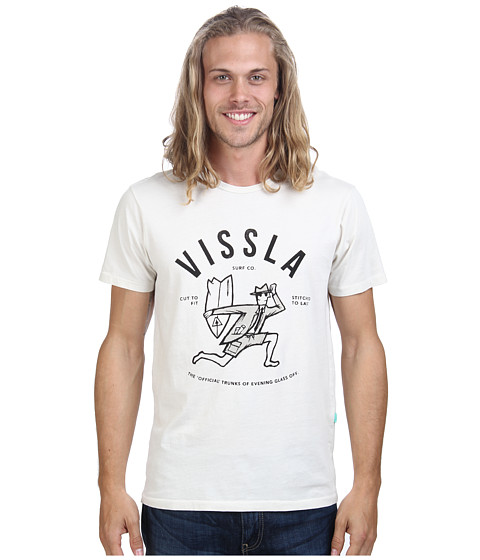 VISSLA - Glass Off S/S T-Shirt (Bone) Men's T Shirt