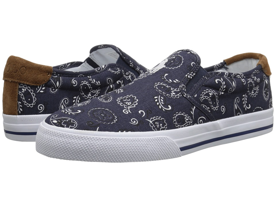 Polo Ralph Lauren - Vaughn (French Navy Bandana Print/Sport Suede) Men's Lace up casual Shoes