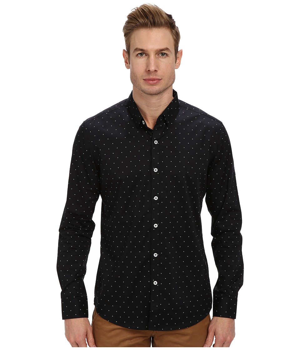 7 Diamonds - Mystery Train L/S Shirt (Black) Men's Long Sleeve Button Up