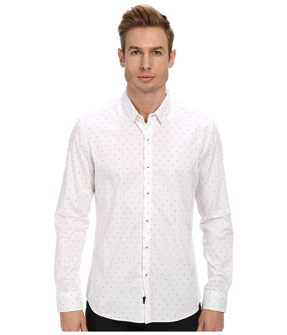 7 Diamonds - Mystery Train L/S Shirt (White) Men's Long Sleeve Button Up