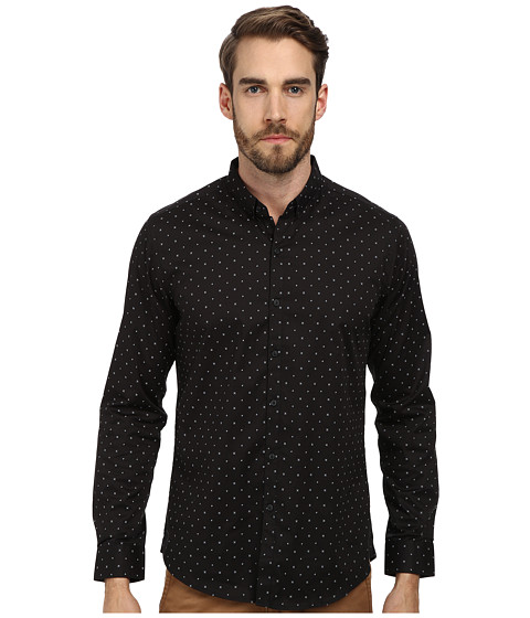 7 Diamonds - Light Up The Sky L/S Shirt (Black) Men's Long Sleeve Button Up