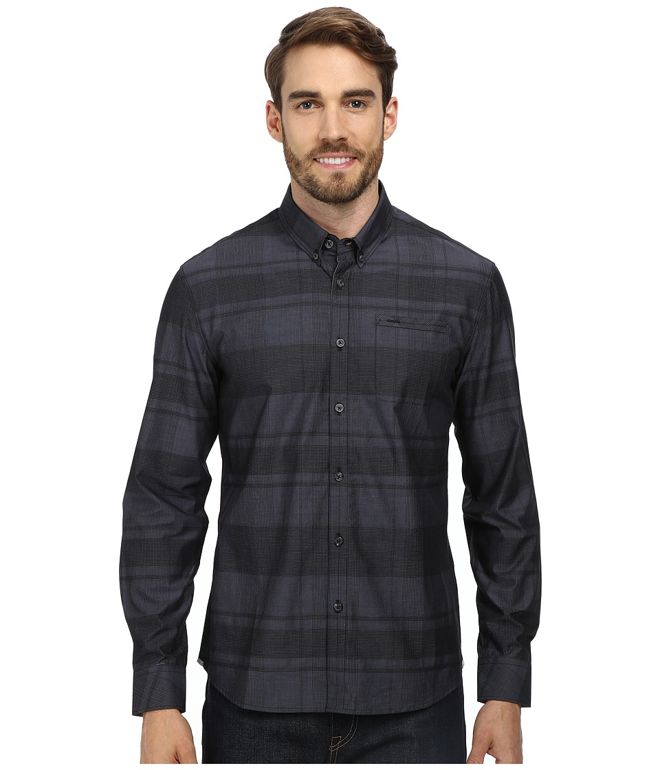 7 Diamonds - Fire and Fury L/S Shirt (Charcoal) Men's Long Sleeve Button Up