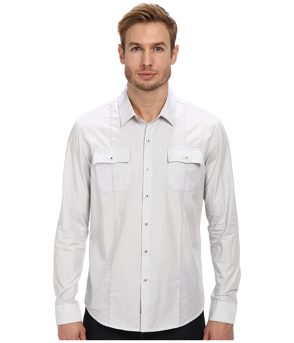 7 Diamonds - Under Control L/S Shirt (White) Men's Long Sleeve Button Up
