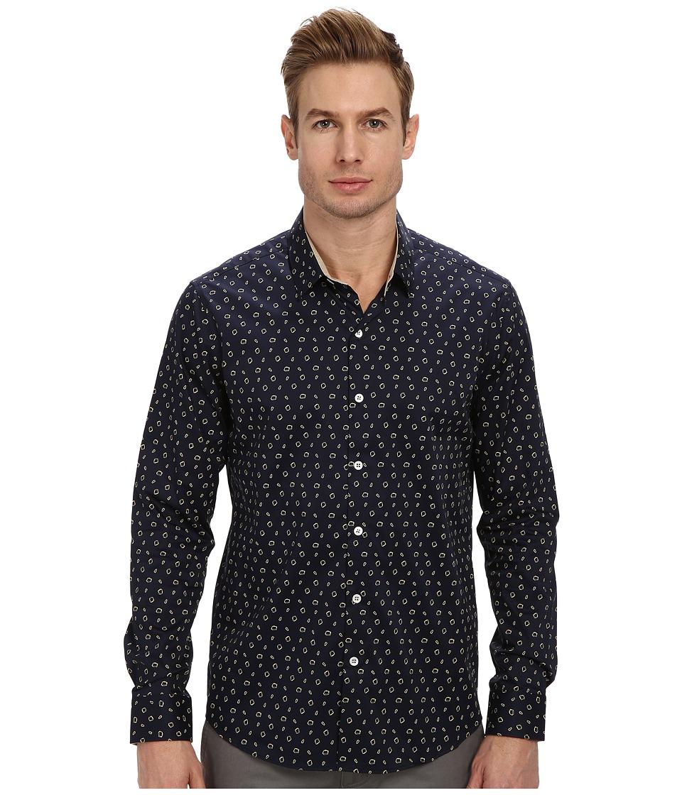 7 Diamonds - Galaxy L/S Shirt (Navy) Men's Long Sleeve Button Up
