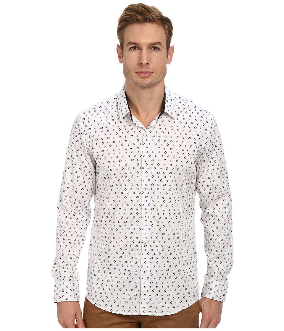 7 Diamonds - Galaxy L/S Shirt (White) Men's Long Sleeve Button Up