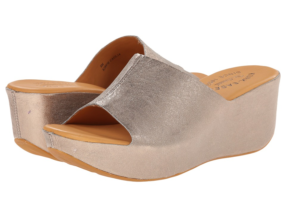 Kork-Ease - Greer (Soft Gold Metallic F/G) Women's Wedge Shoes