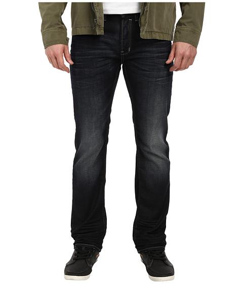 Buffalo David Bitton - Six Slim Straight Fit Jean in Dark Crinkles Blasting (Dark Crinkles & Blasting) Men