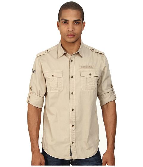 Buffalo David Bitton - Sigma Long Sleeve Woven Shirt (Sablee Combo) Men