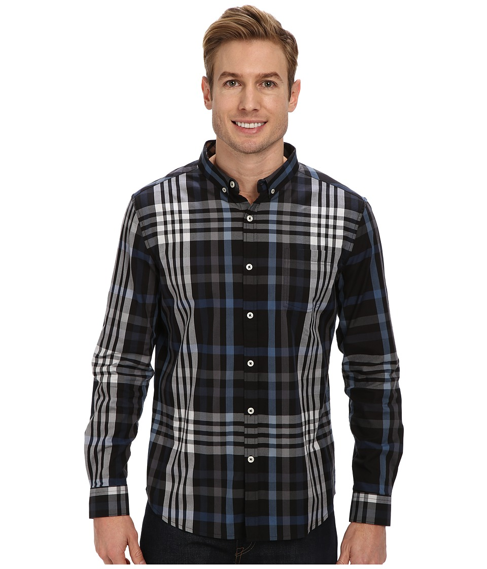 7 Diamonds - Harrington L/S Shirt (Midnight) Men