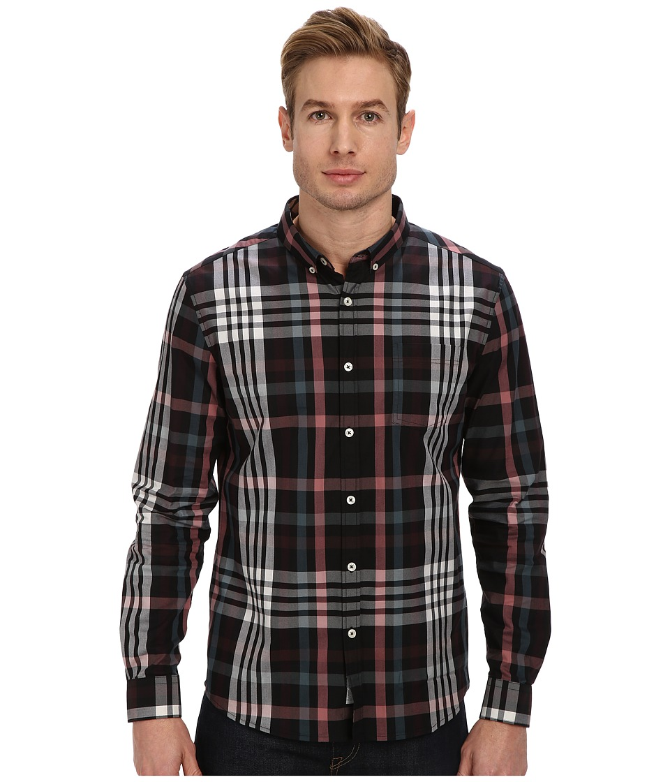 7 Diamonds - Harrington L/S Shirt (Tuscan Red) Men's Long Sleeve Button Up