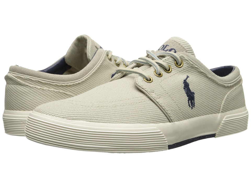 Polo Ralph Lauren - Faxon Low (Classic Stone Cavalry Twill) Men's Lace up casual Shoes