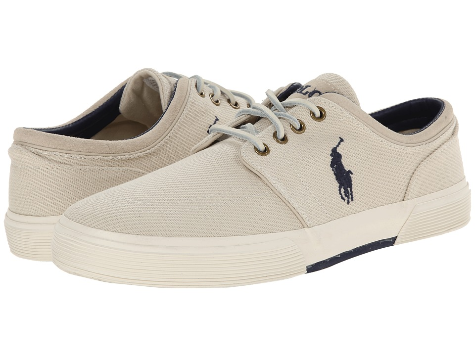 Polo Ralph Lauren - Faxon Low (Ivory Cavalry Twill) Men's Lace up casual Shoes
