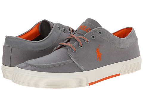 Polo Ralph Lauren - Fernando (Museum Grey Canvas/Sport Suede) Men's Lace up casual Shoes