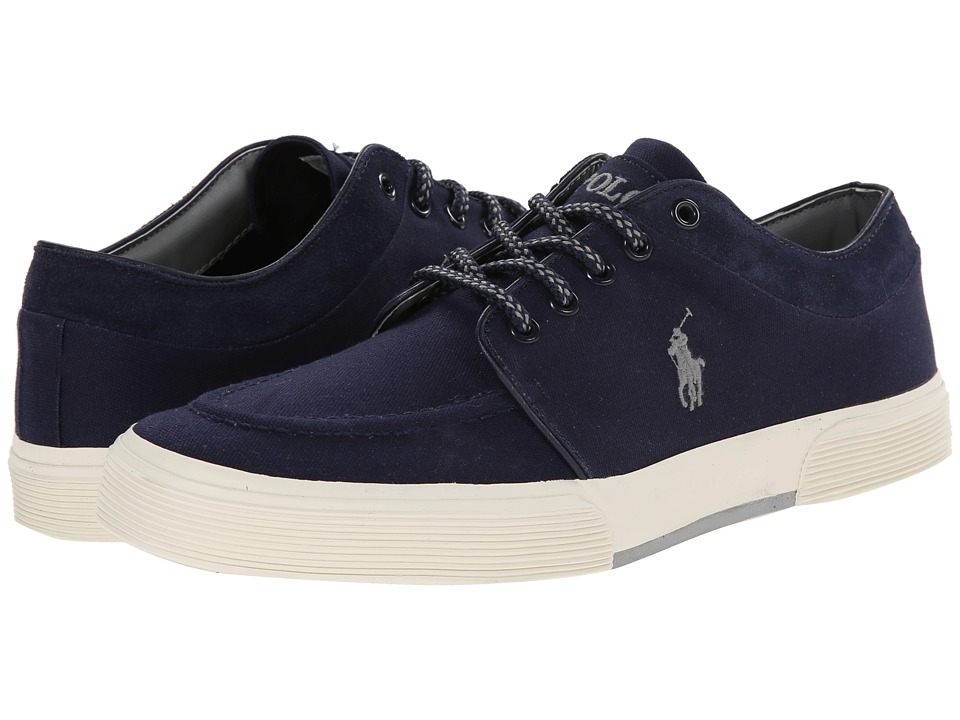 Polo Ralph Lauren - Fernando (Newport Navy Canvas/Sport Suede) Men's Lace up casual Shoes