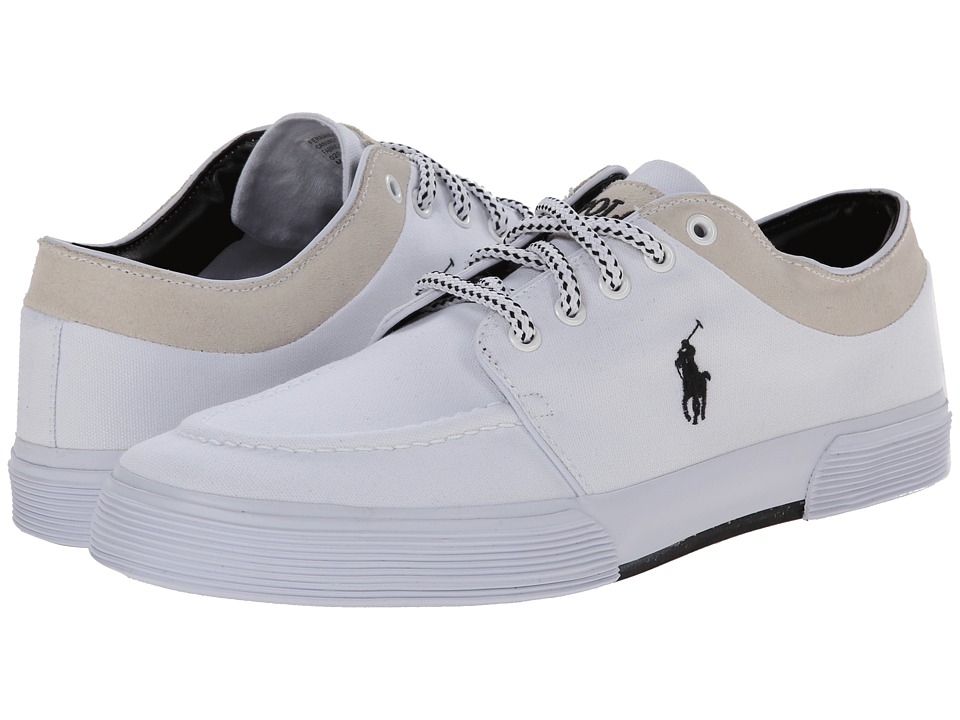 Polo Ralph Lauren - Fernando (Pure White Canvas/Sport Suede) Men's Lace up casual Shoes