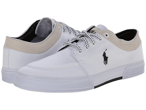 Polo Ralph Lauren - Fernando (Pure White Canvas/Sport Suede) Men's Lace up casual Shoes