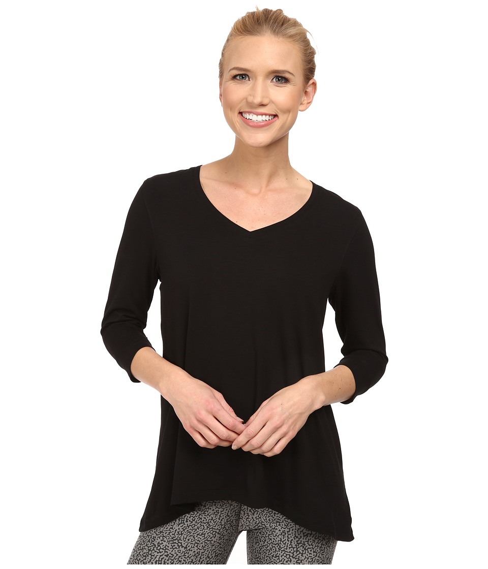 Jofit - Voyager V-Neck Half Sleeve (Black) Women's Blouse