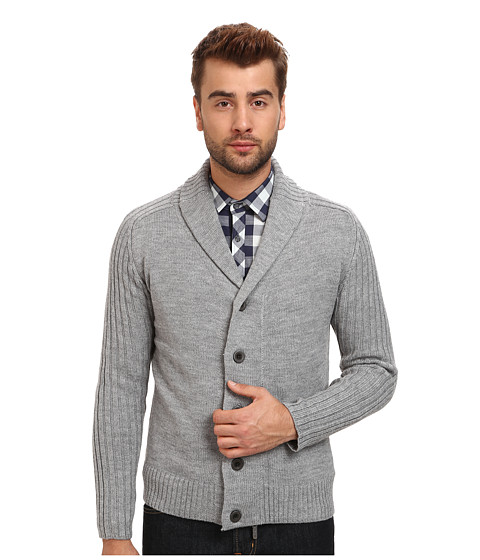 7 Diamonds - Monaco Cardigan (Light Grey) Men