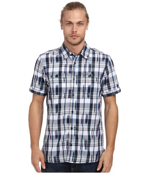 Buffalo David Bitton - Sahar S/S Ikat Plaid Woven Shirt (Trail Combo) Men's Clothing