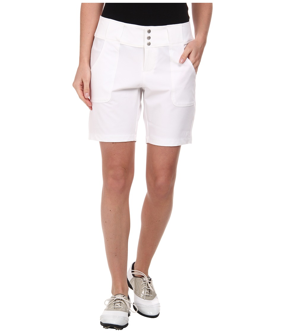Jofit - Belted Golf Short (White) Women's Shorts