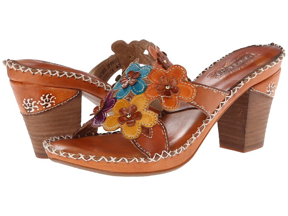 Spring Step - Palmetto (Camel) Women's Sandals