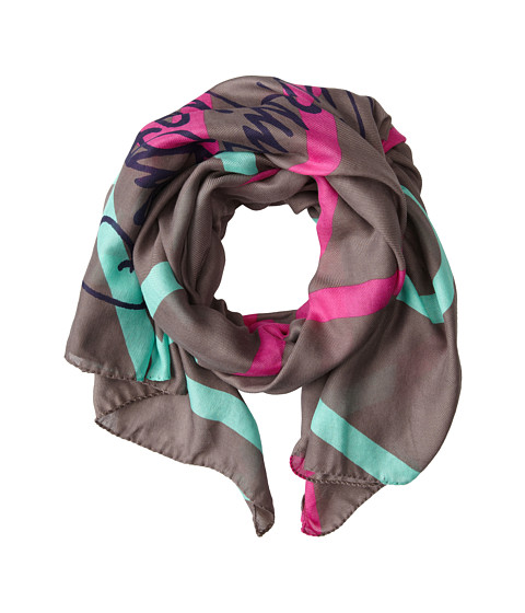 Vivienne Westwood - Graphic Print Orb Scarf (Brown) Scarves
