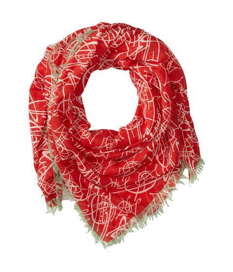Vivienne Westwood - Tiled Orb Scarf (Red) Scarves