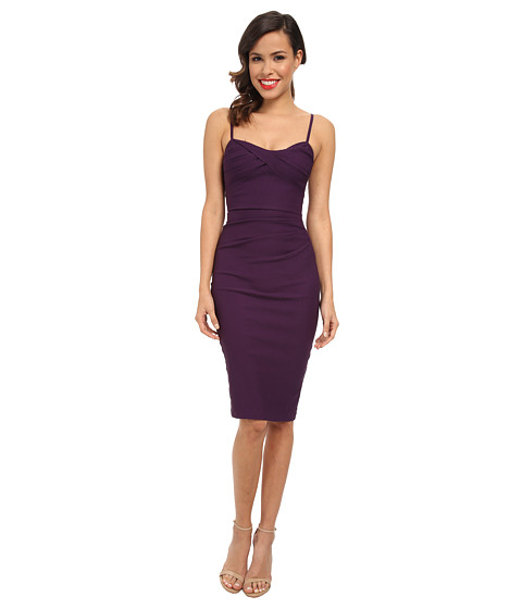 Stop Staring! - Spagetti Strap Dress (Eggplant) Women's Dress