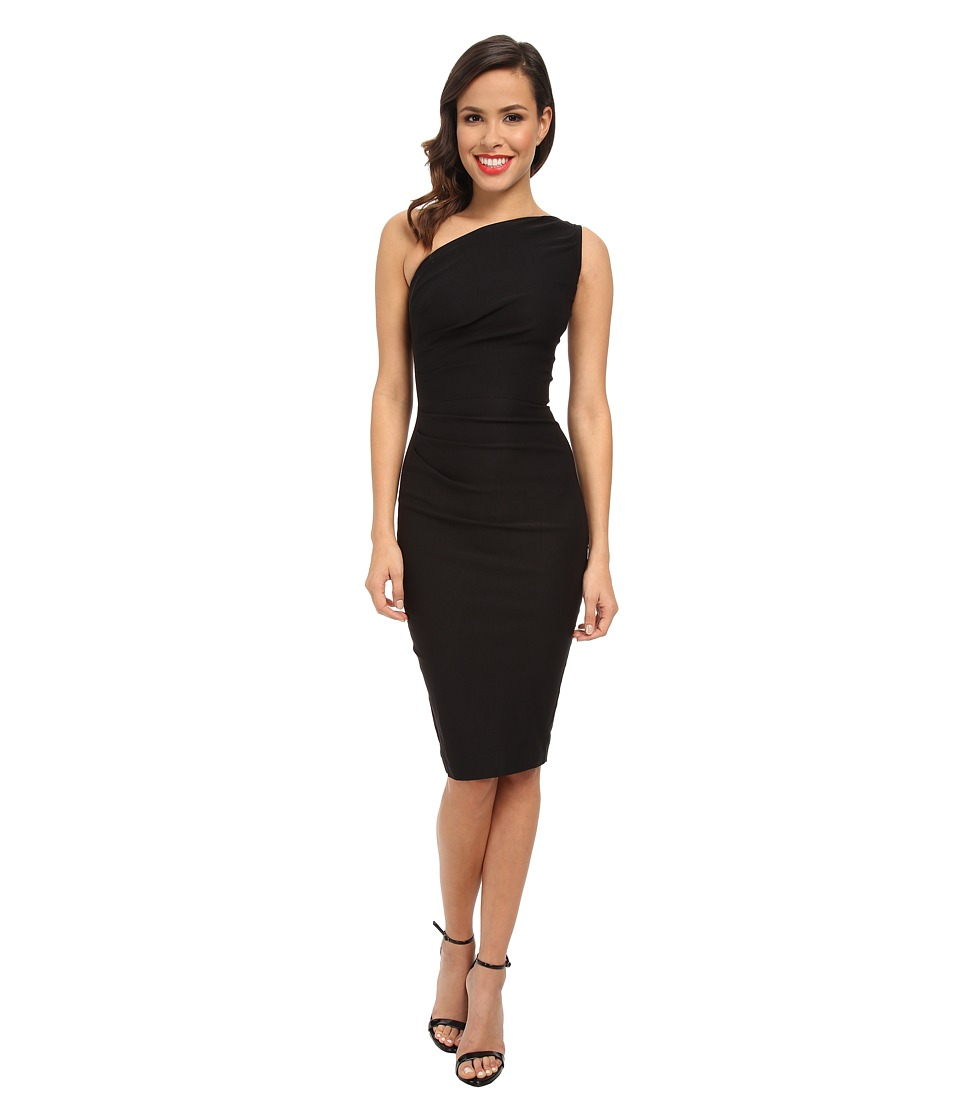 Stop Staring! - One Shoulder Dress (Black) Women's Dress
