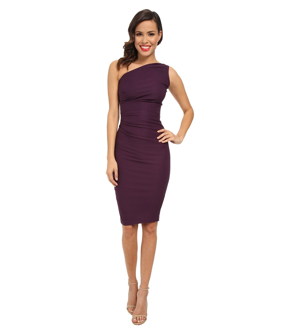 Stop Staring! - One Shoulder Dress (Eggplant) Women's Dress