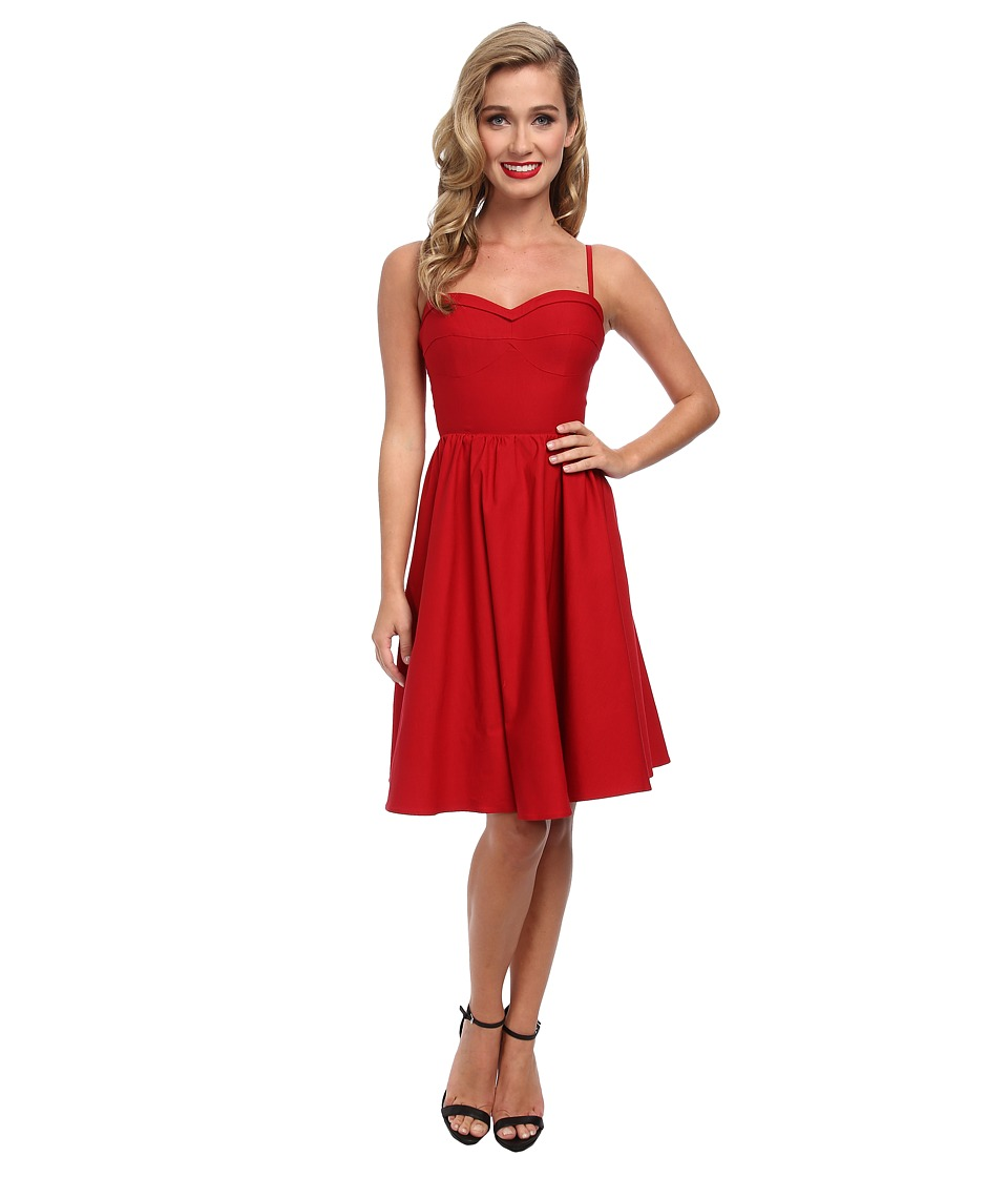 Stop Staring! - Solid Swing Dress (Red) Women