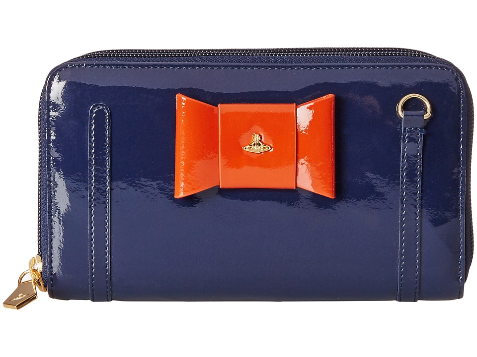 Vivienne Westwood - Derby Convertible Clutch (Navy/Rust) Clutch Handbags