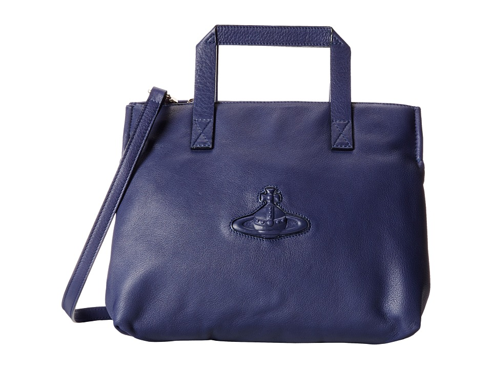 Vivienne Westwood - Orb Tote Bag w/ Long Strap (Blue) Tote Handbags