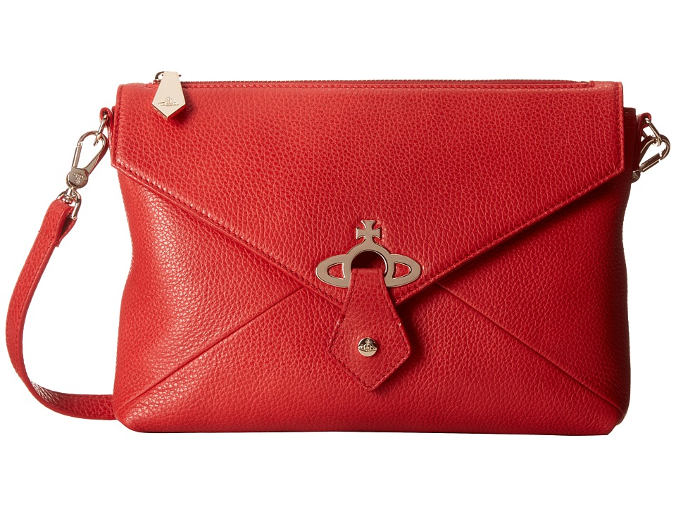 Vivienne Westwood - Metal Orb Crossbody (Red) Cross Body Handbags