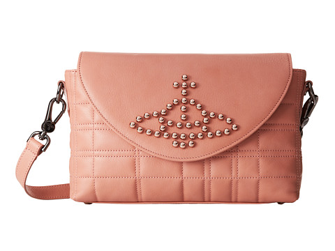 Vivienne Westwood - Studded Orb Crossbody (Pink) Cross Body Handbags