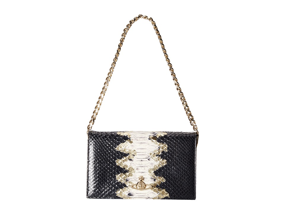 Vivienne Westwood - Snake Print Shoulder Bag (Gold) Shoulder Handbags