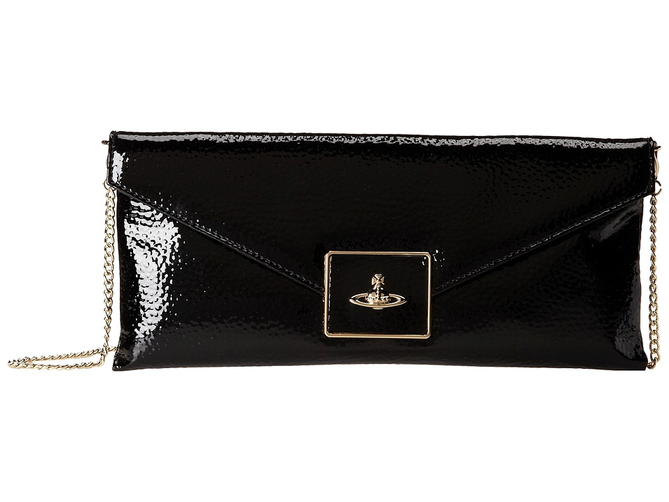 Vivienne Westwood - East-West Logo Shoulder Bag (Black) Clutch Handbags