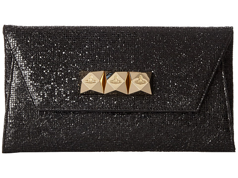 Vivienne Westwood - Studded Evening Clutch (Black) Clutch Handbags