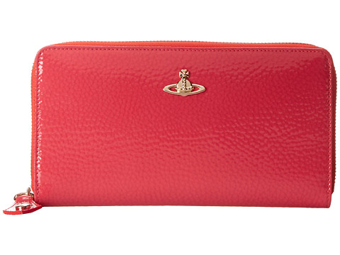 Vivienne Westwood - Zip-Around Wallet (Coral) Wallet Handbags
